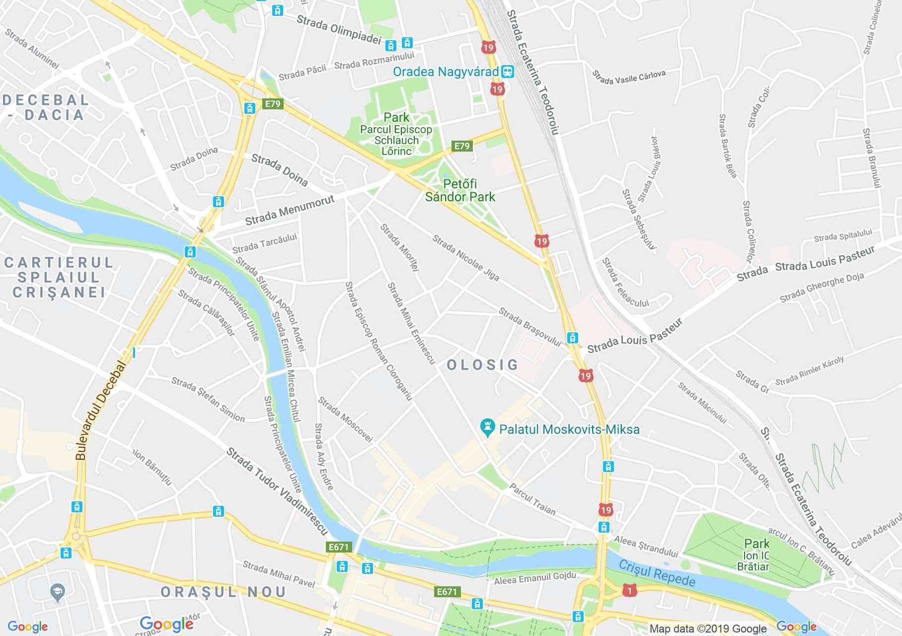 Hartă Oradea: Palatul Stern