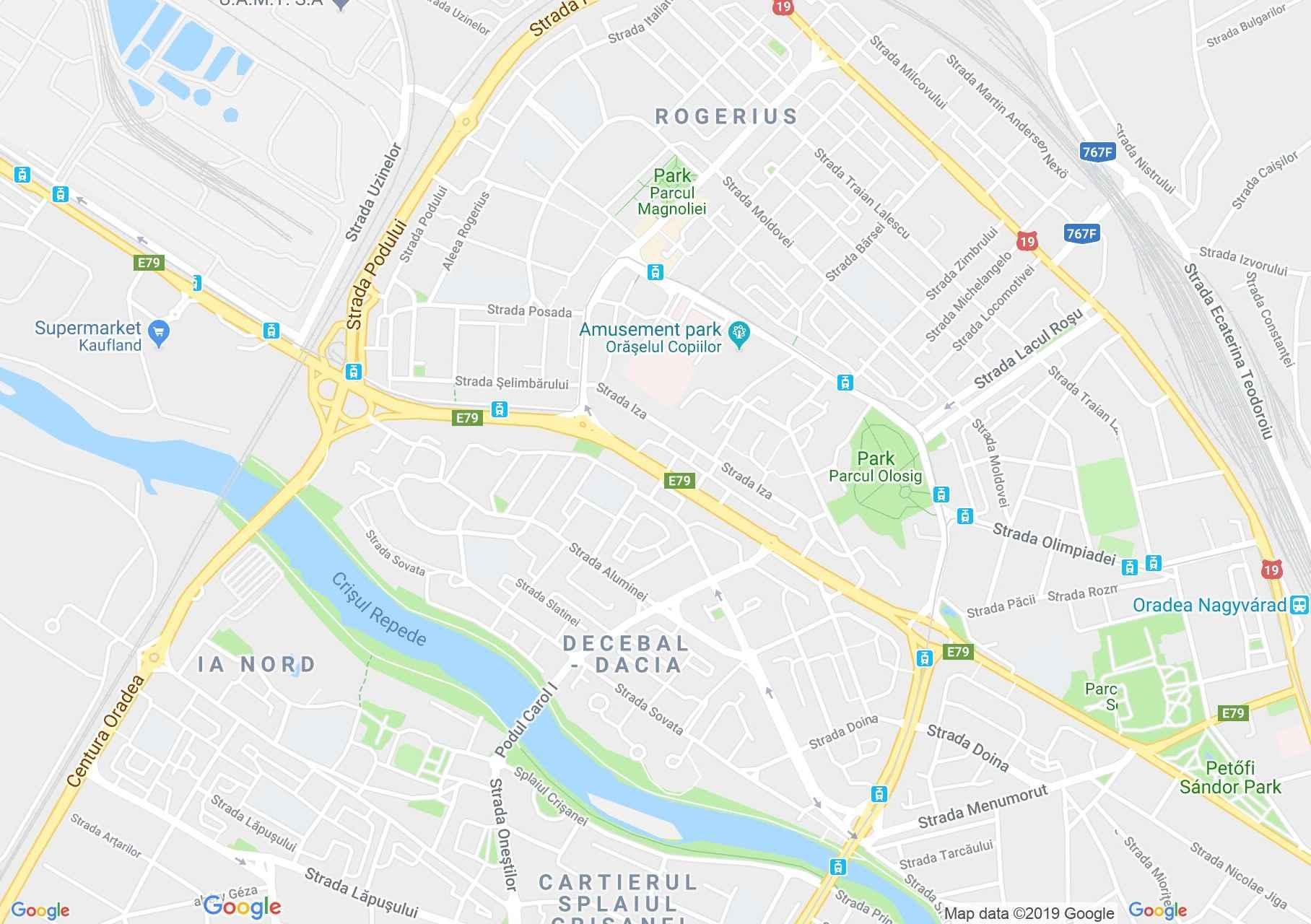 Hartă Oradea: Pensiunea Lan