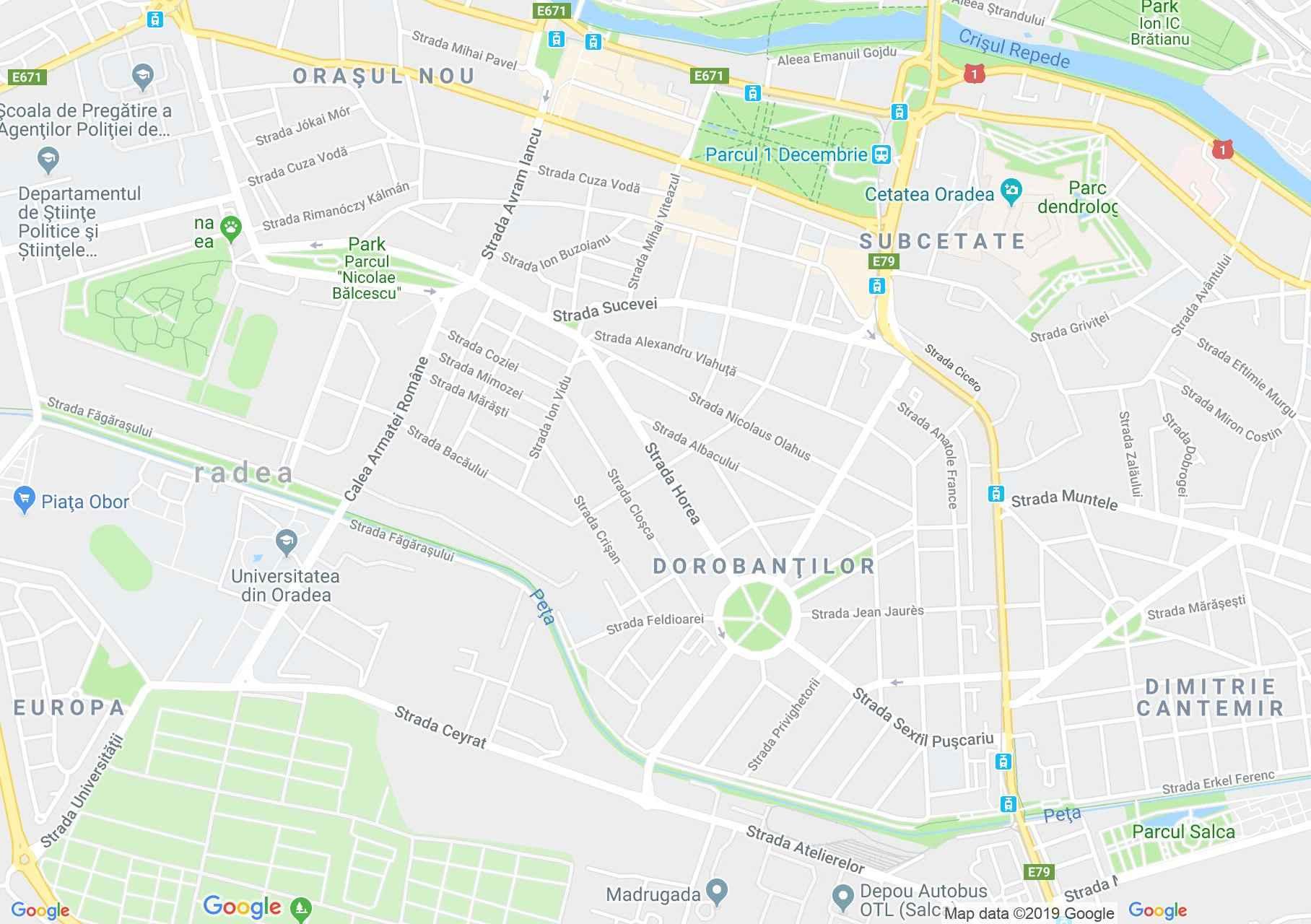 Map of Oradea: Magic pension
