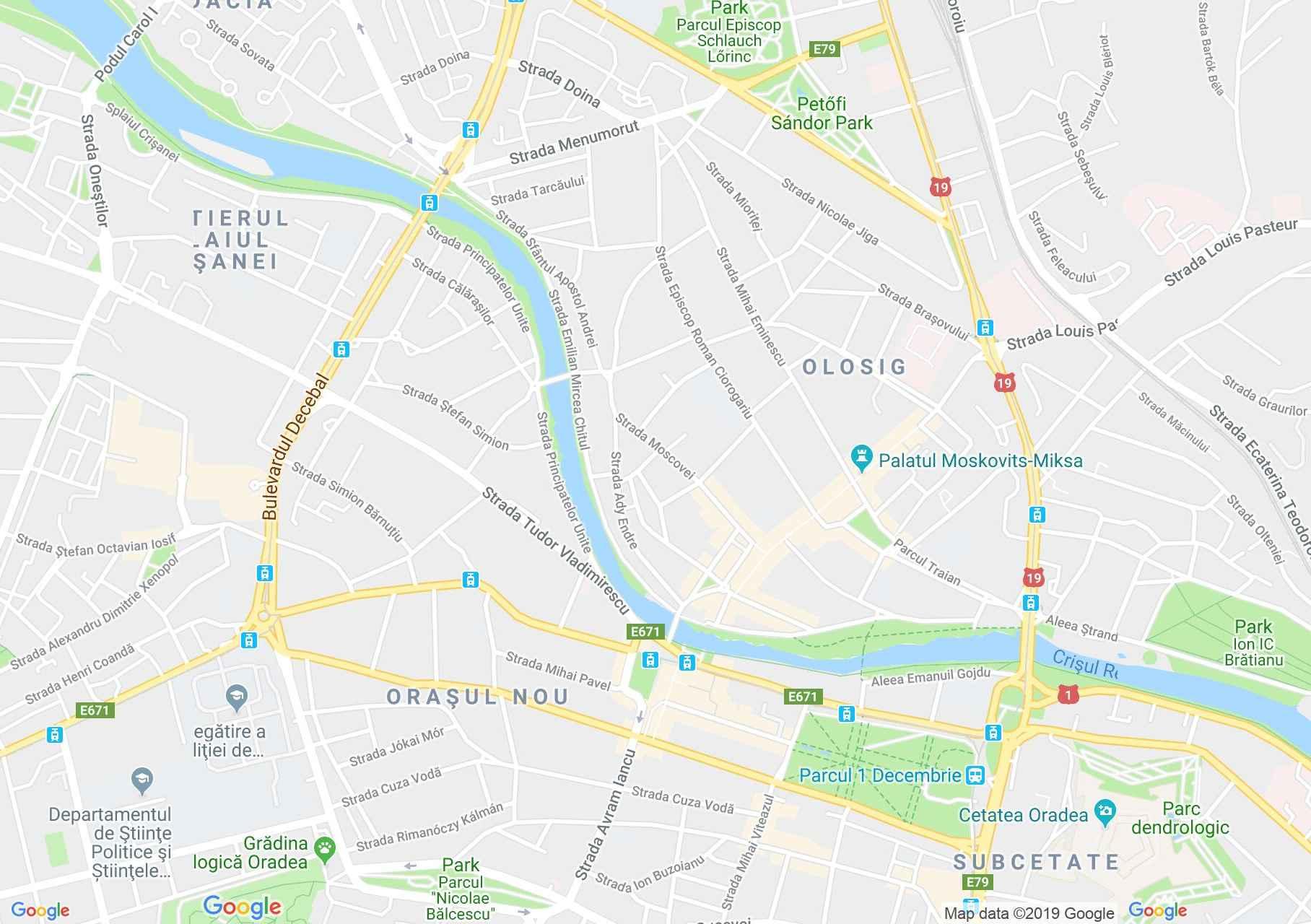 Hartă Oradea: Piaţa Unirii
