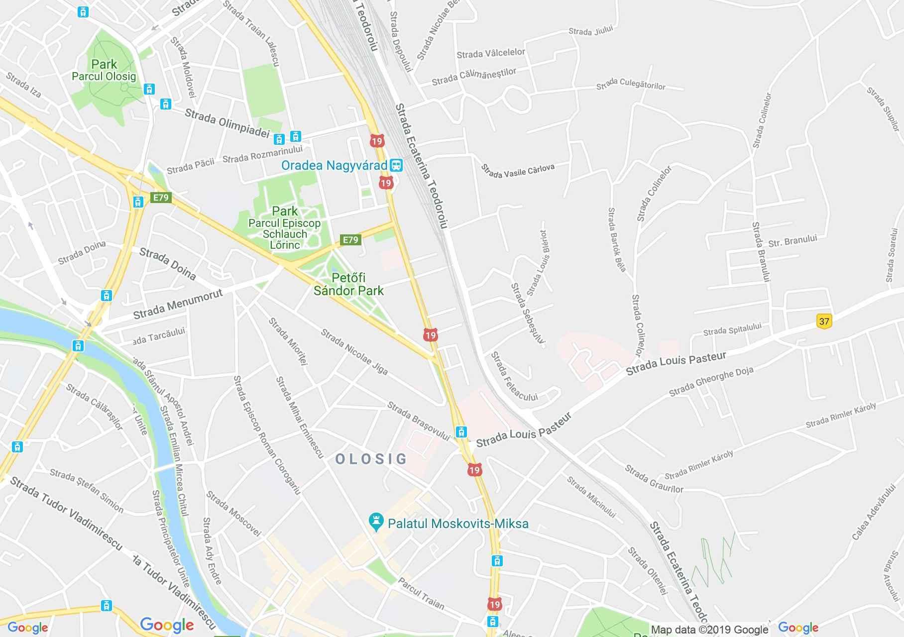 Hartă Oradea: Palatul Finanţelor publice