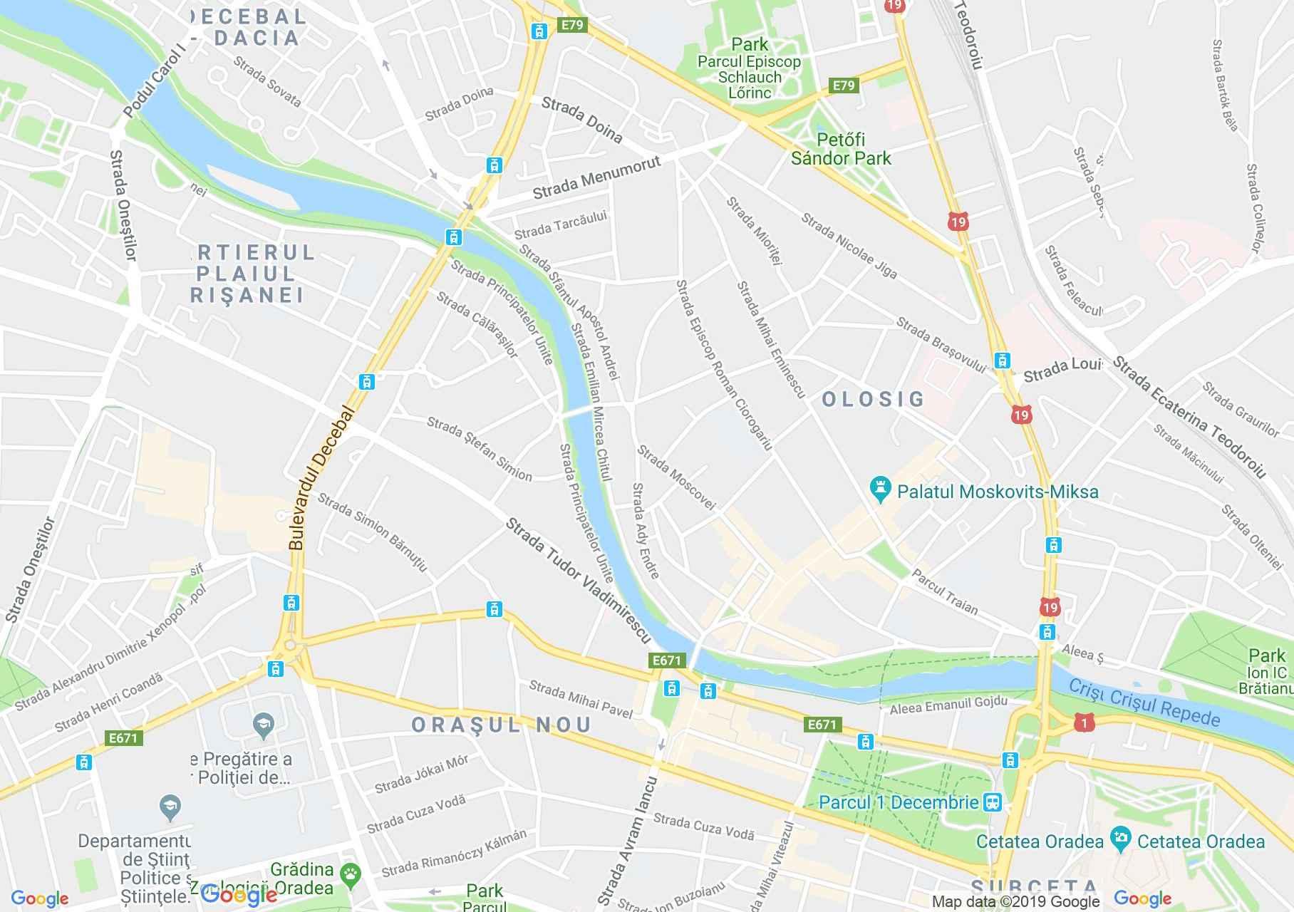 Nagyvárad: Városháza (térkép)