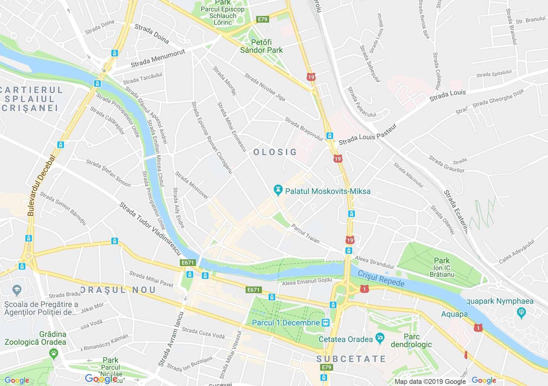 Hartă Oradea: Restaurant Bridge