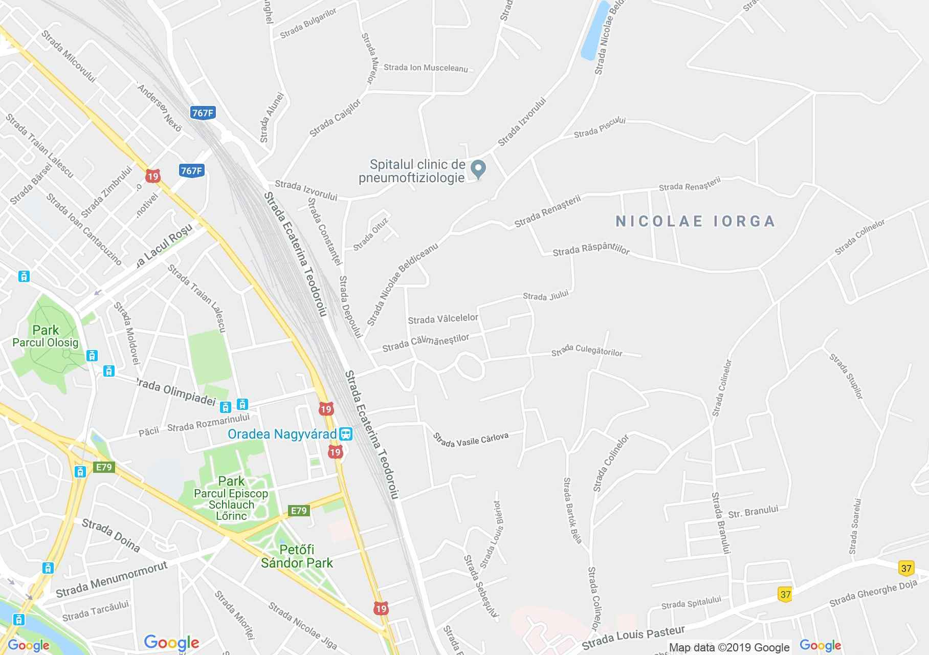 Map of Oradea: Camping Robinson Country