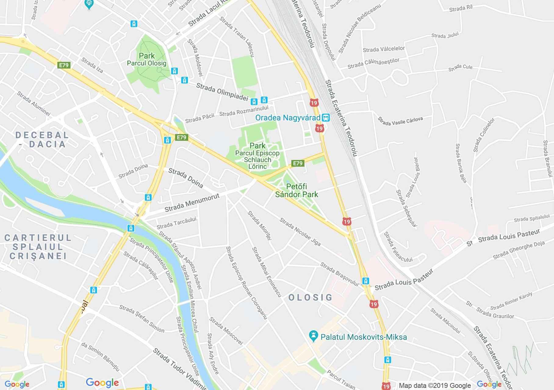 Map of Oradea: Vila Okányi-Schwartz
