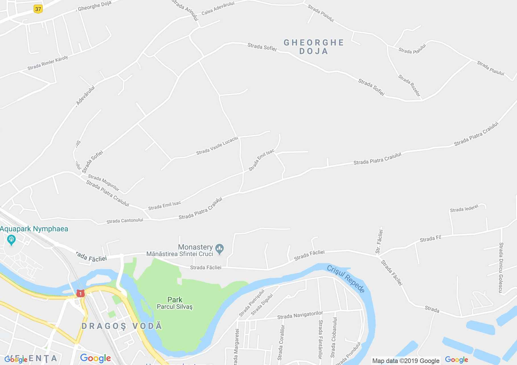 Map of Oradea: Sunshine villa