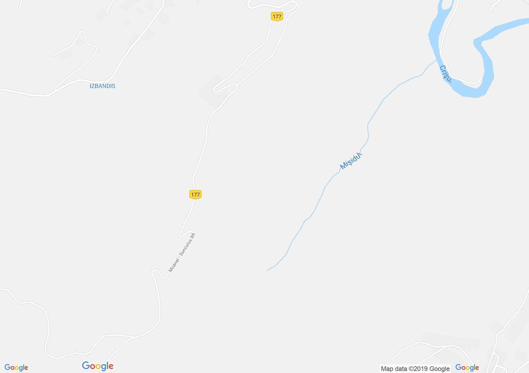 Hartă Vadu Crişului: Vadu Crişului - Peştera Lesianei