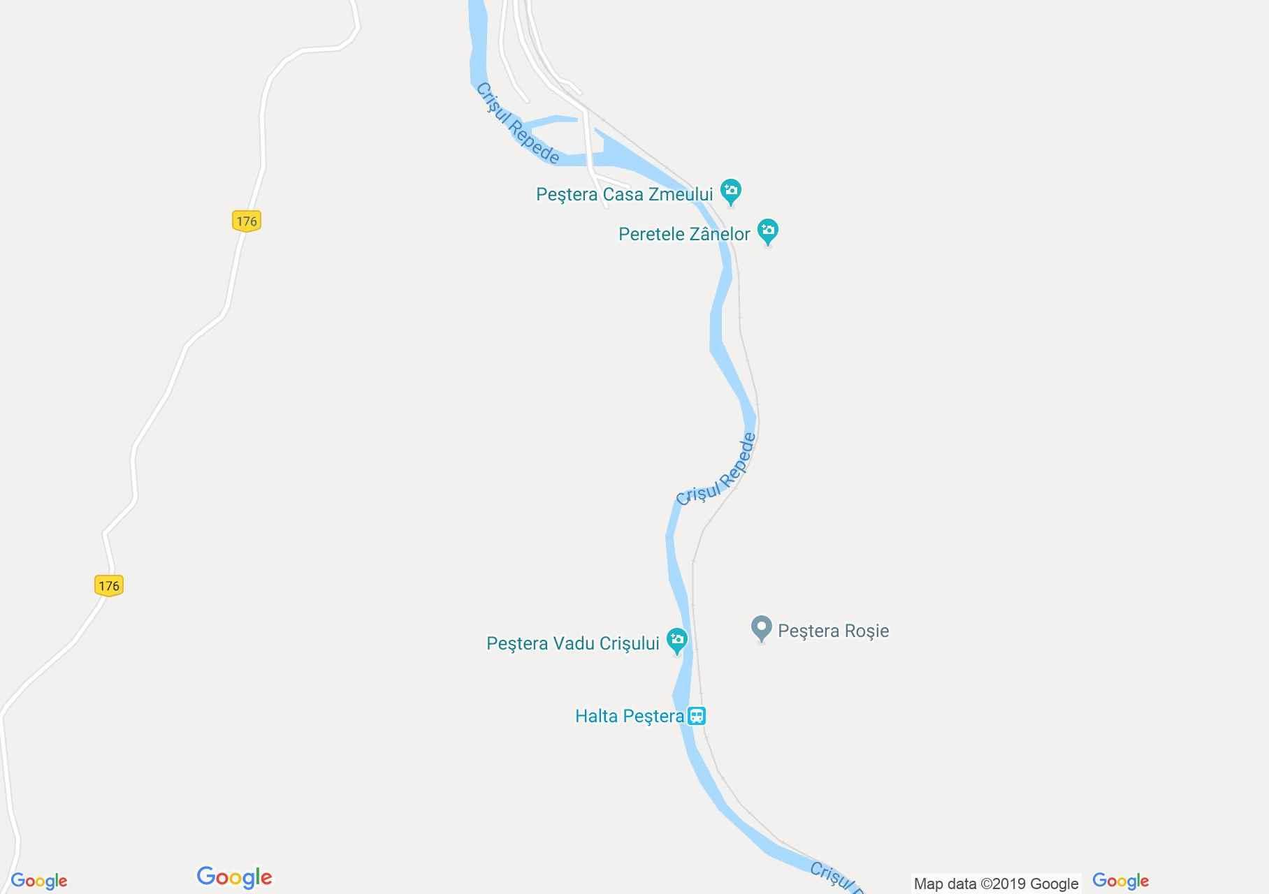 Map of Vadu Crişului: Vadu Crişului cave