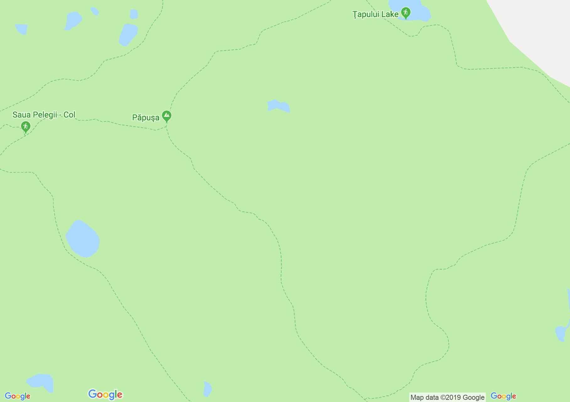 Retyezát hegység: Bucura tó - Custura csúcs (térkép)