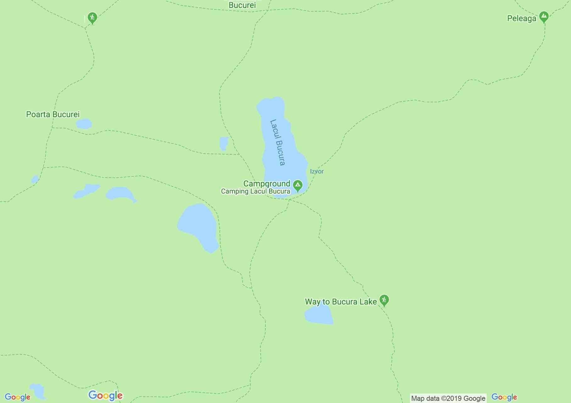 Map of Retezat mountains: The lakes tour