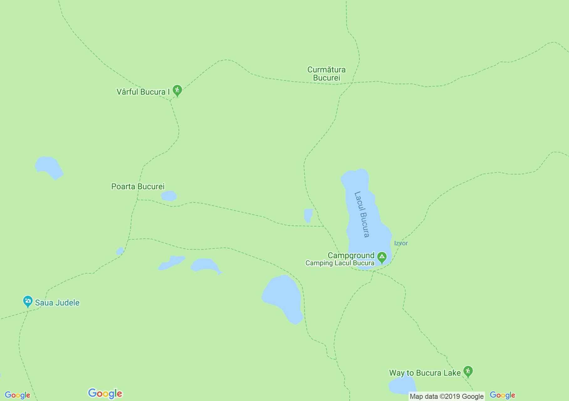 Hartă Muntii Retezat: Lacul Ana
