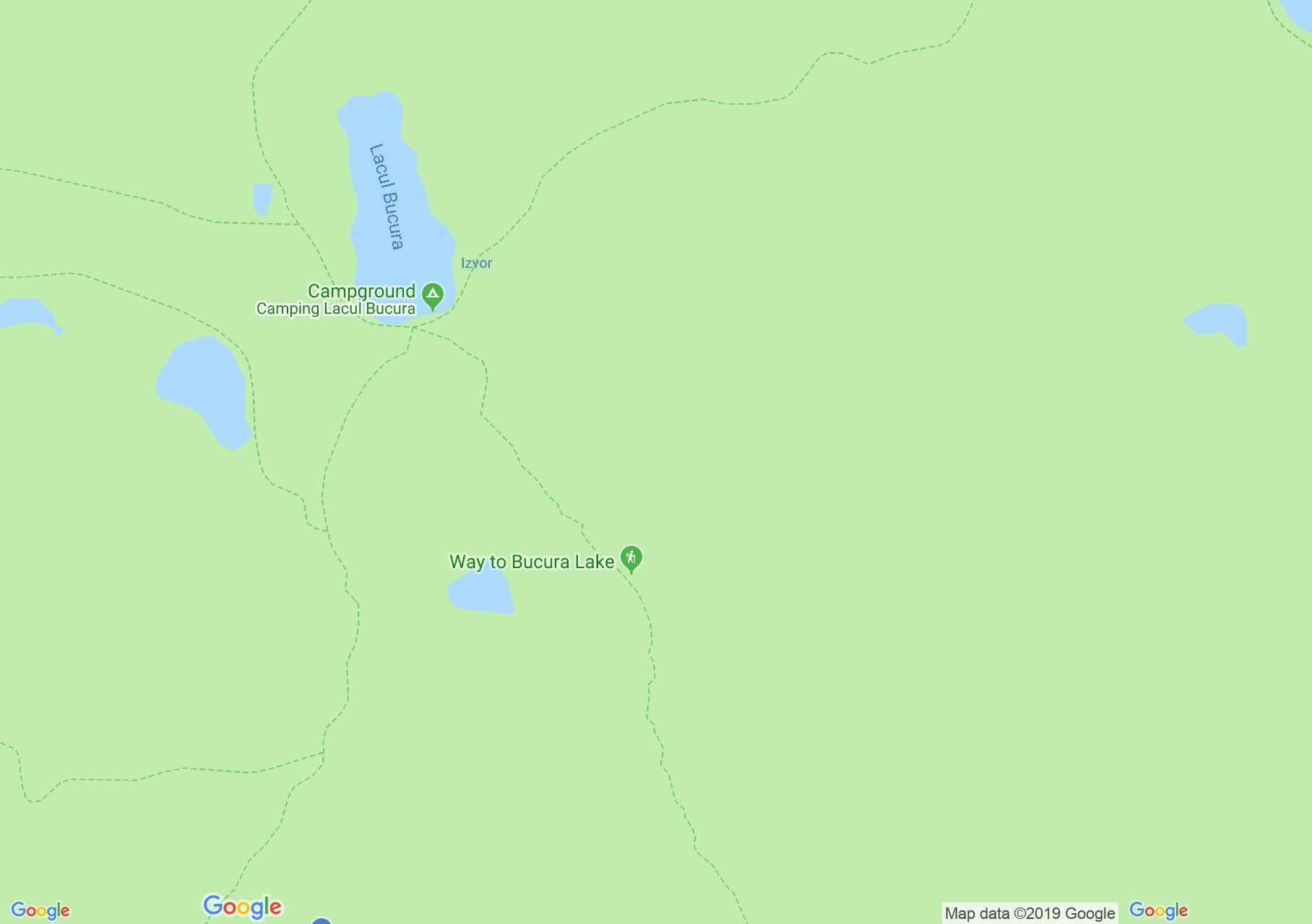 Map of Retezat mountains: Bucura Lake - Câmpul lui Neag