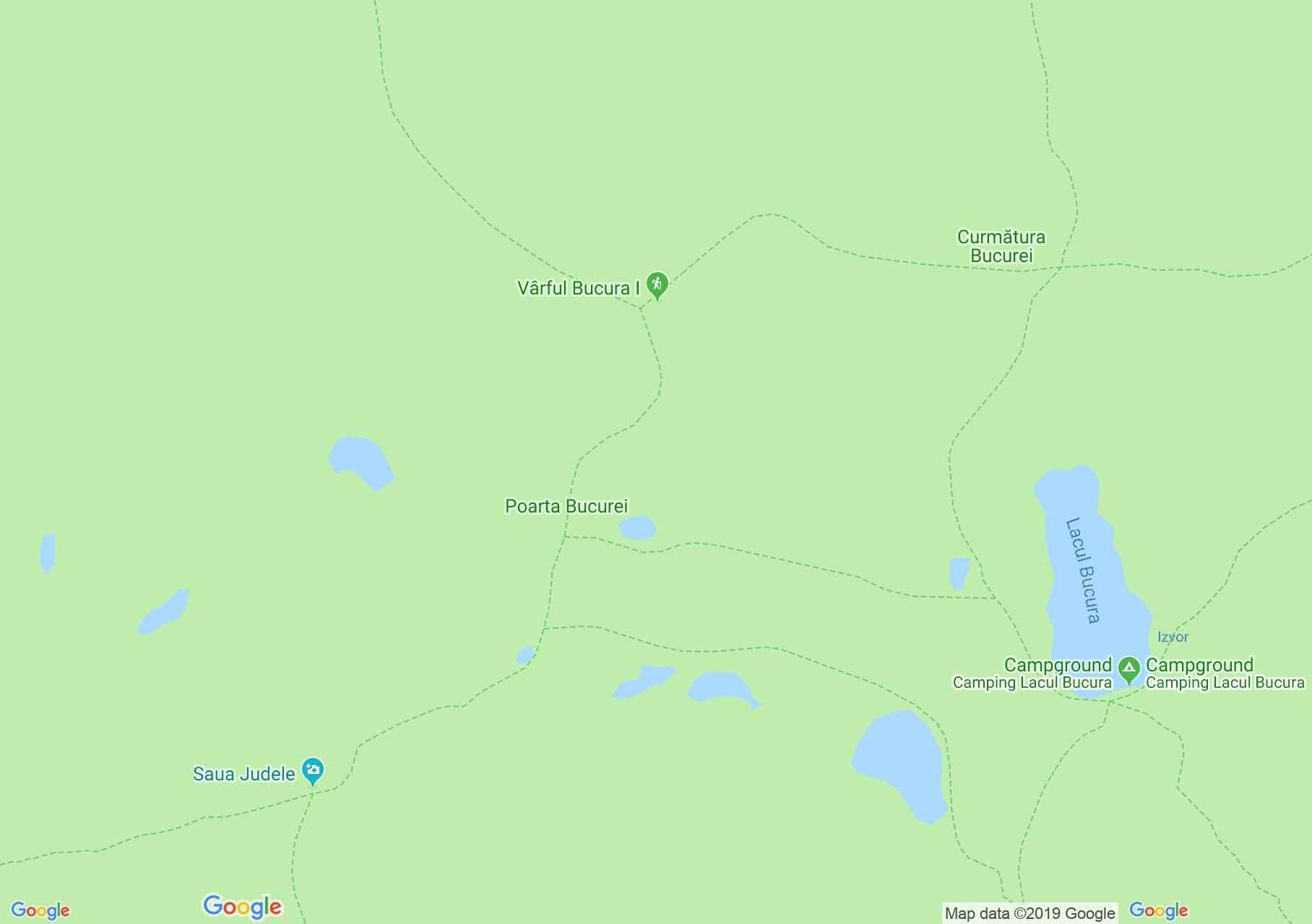 Hartă Muntii Retezat: Lacul Florica