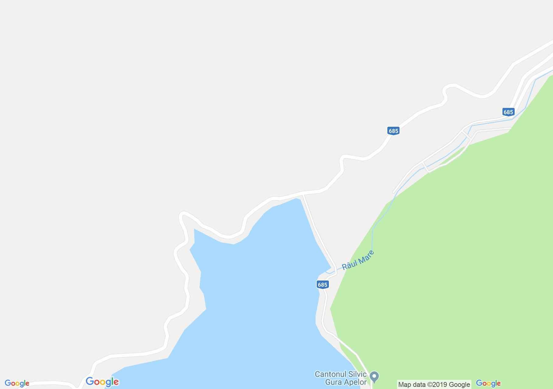 Retyezát hegység: Gura Apelor tó (térkép)