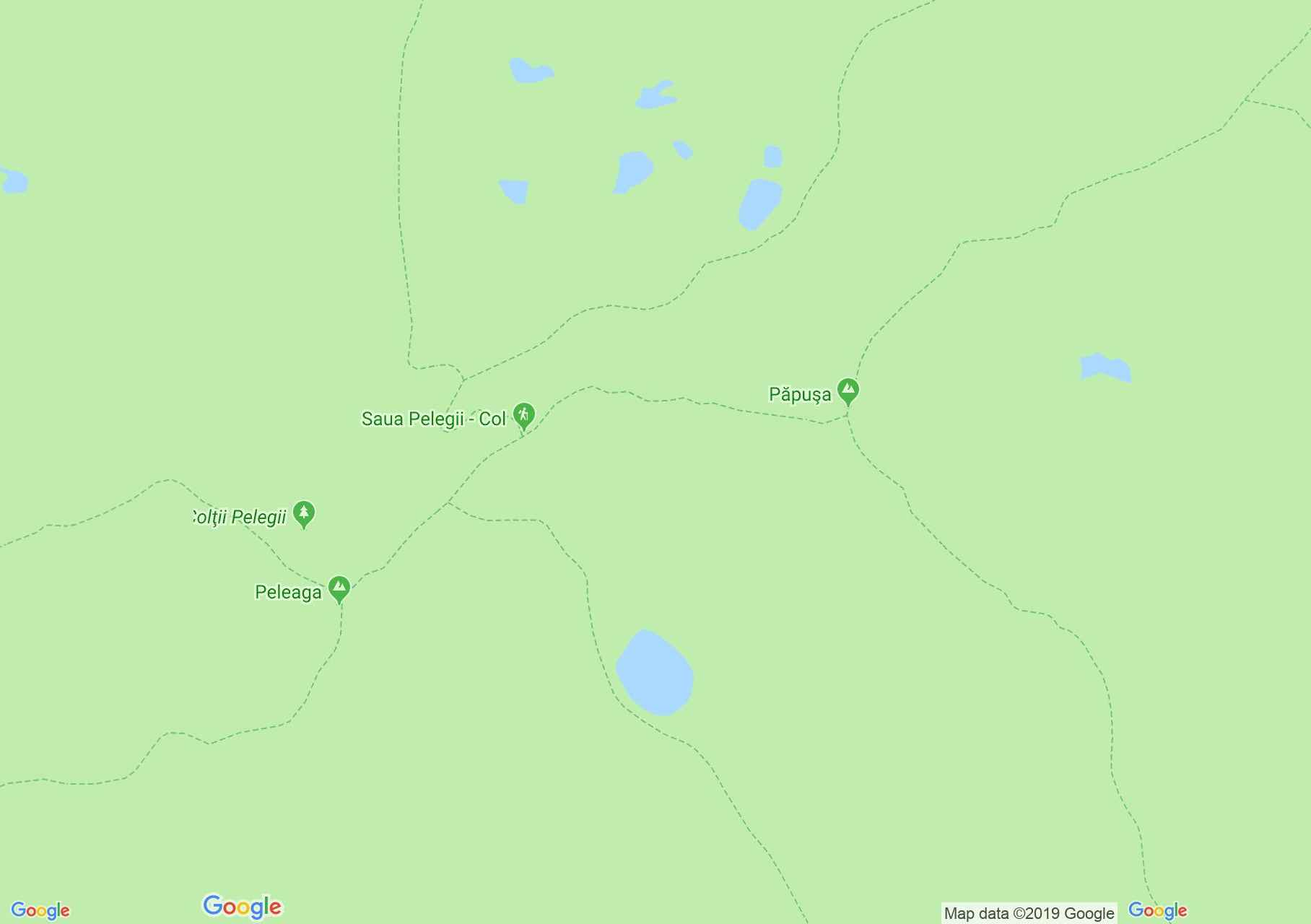 Hartă Muntii Retezat: Lacul Peleaga