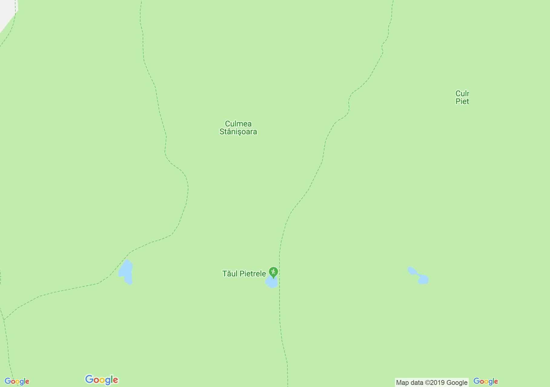 Map of Retezat mountains: Pietrele lake