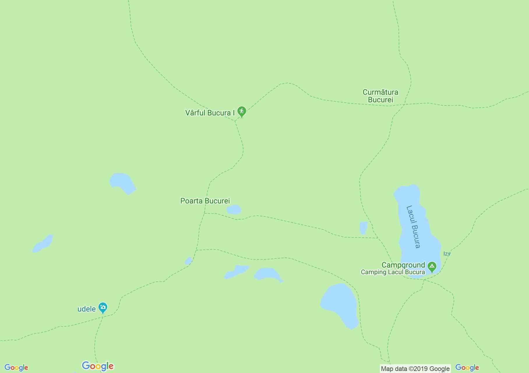 Retyezát hegység: Viorica tó (térkép)