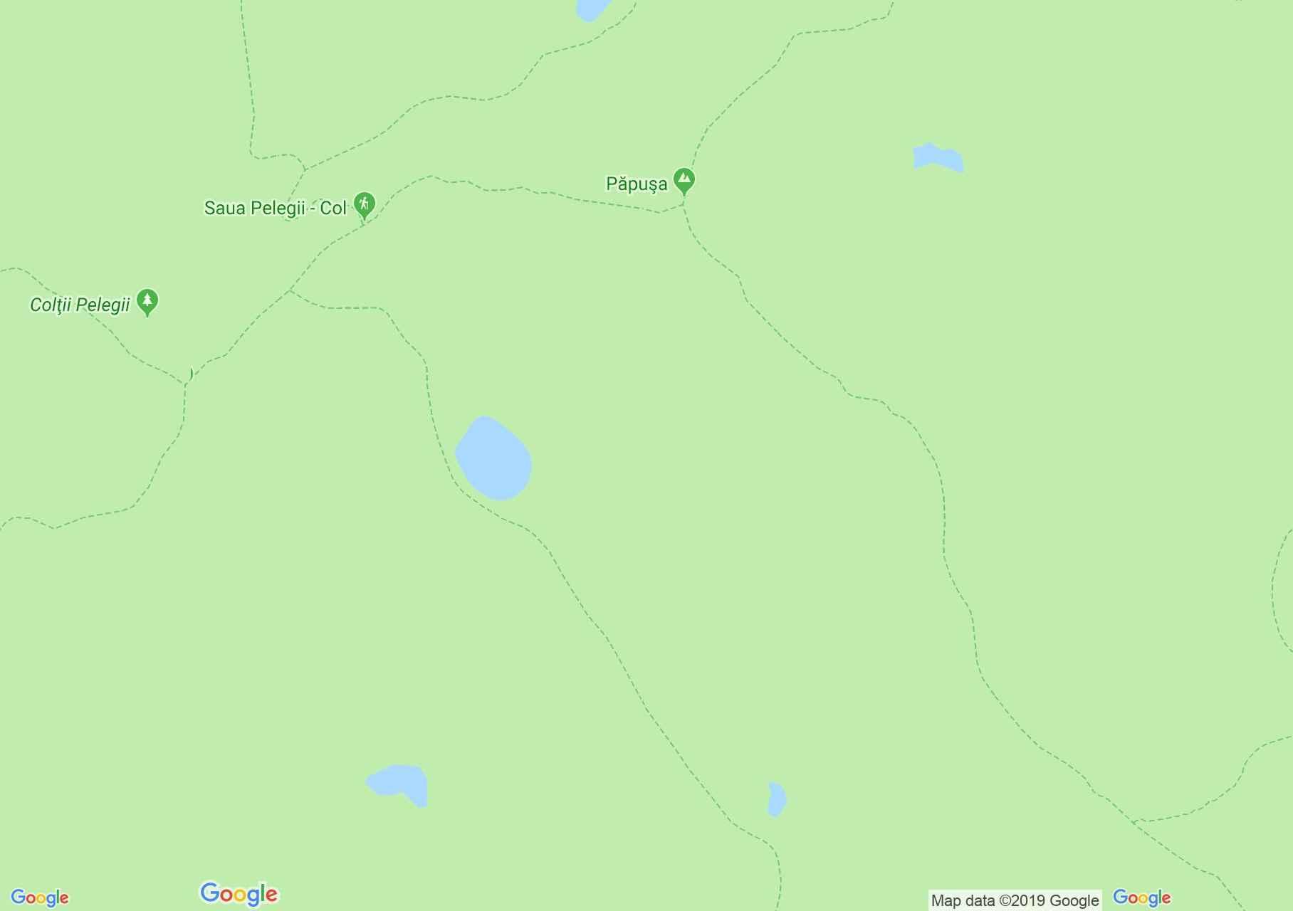 Retyezát hegység: Peleaga tisztás - Peleága nyereg (térkép)