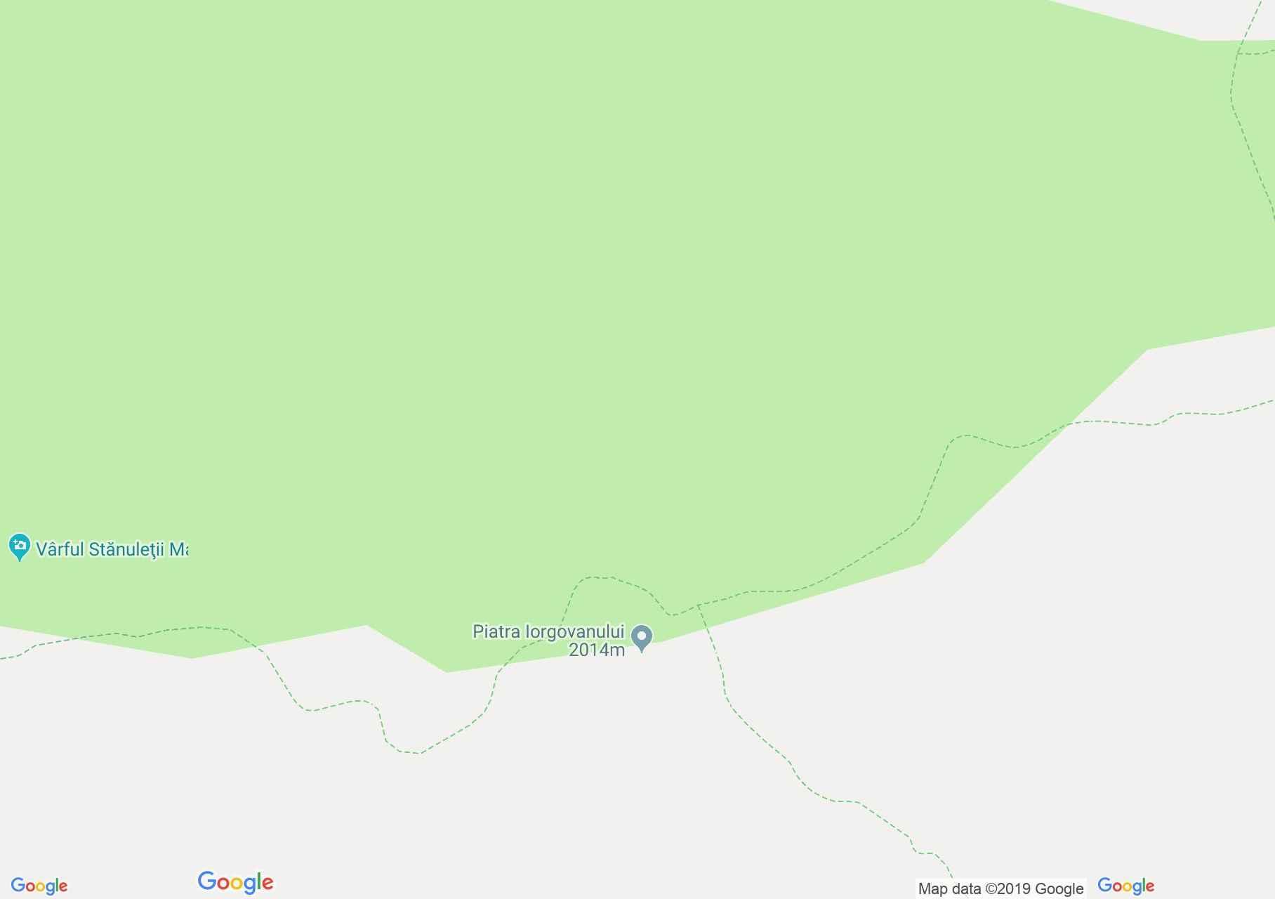 Hartă Muntii Retezat: Piatra Iorgovanului