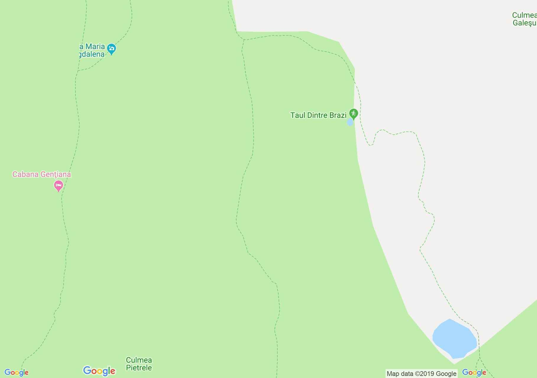 Hartă Muntii Retezat: Cabana Pietrele - Şaua Pelegii