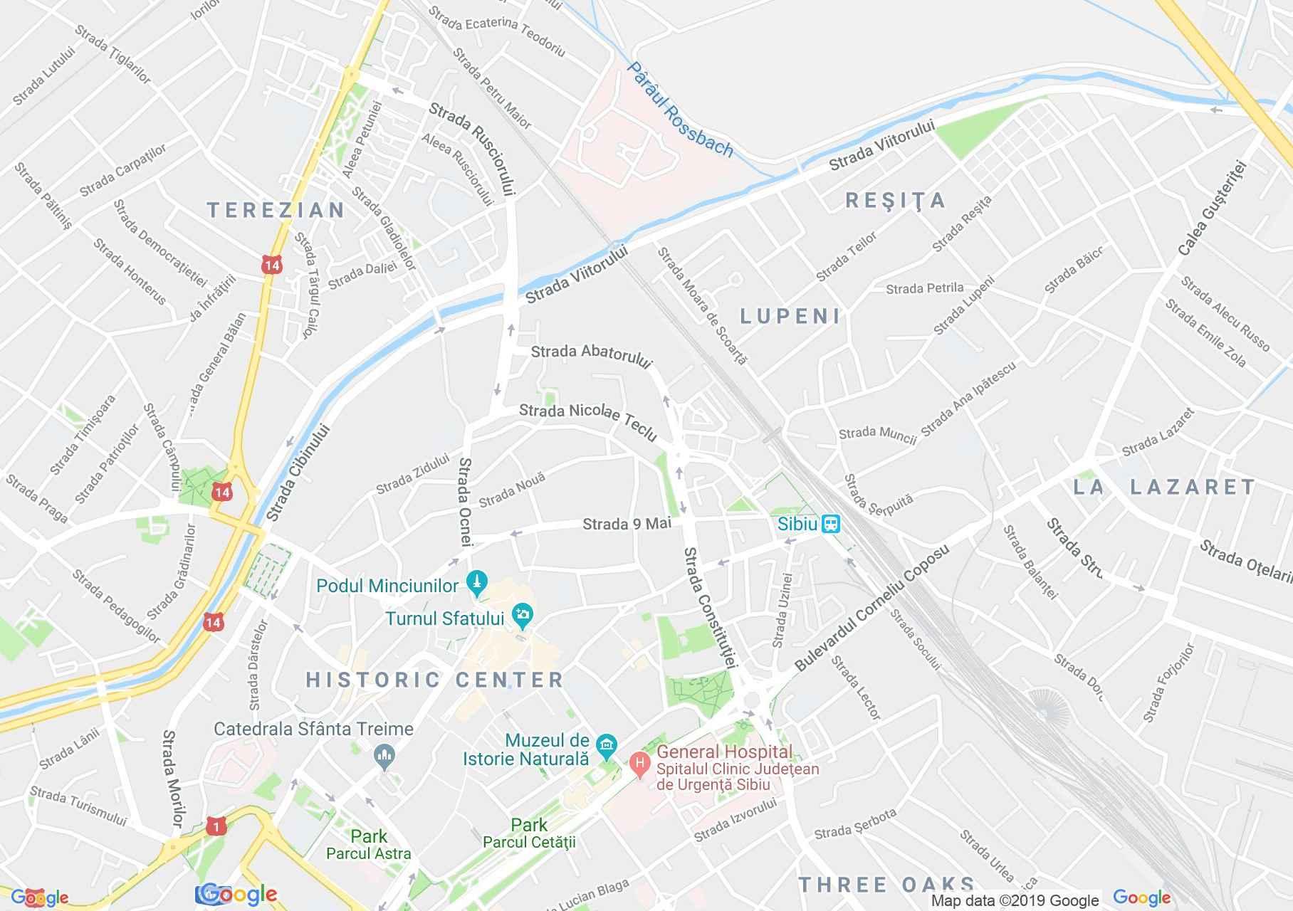 Nagyszeben: Ferencesek temploma (térkép)