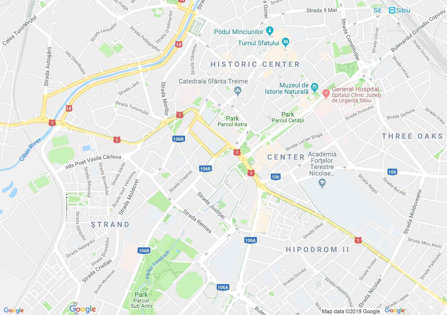 Map of Sibiu: August von Spiess Hunter Museum