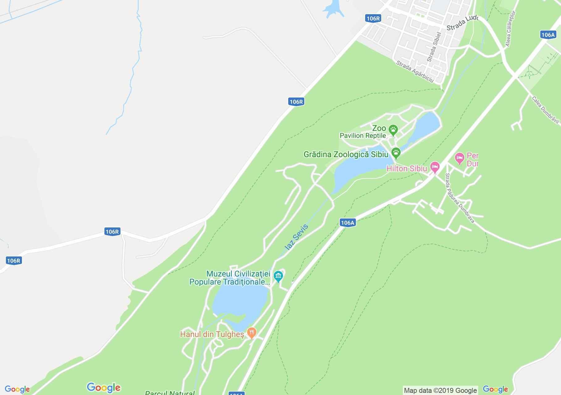Map of Sibiu: Astra Folk Civilization Museum