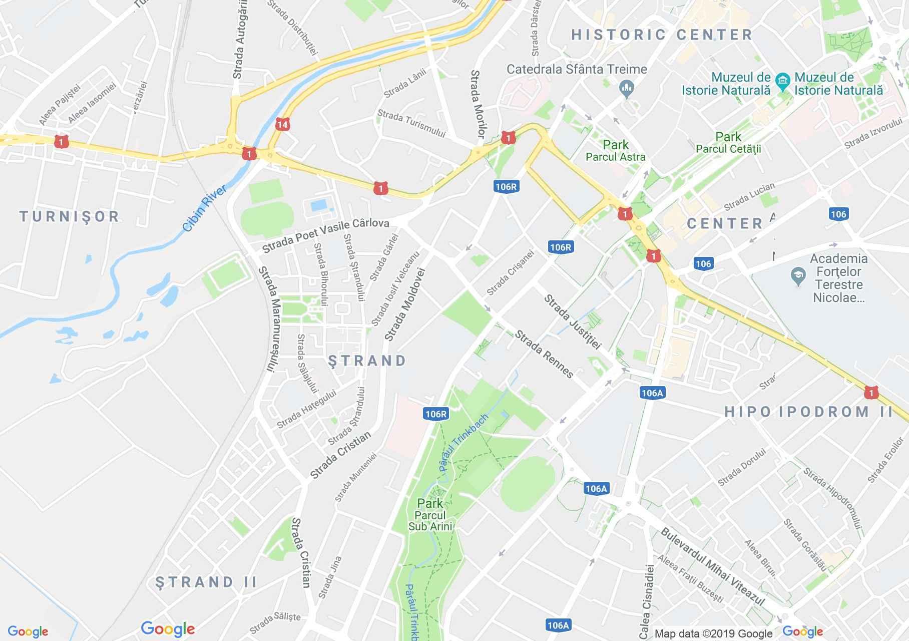 Hartă Sibiu: Parcul Sub Arini