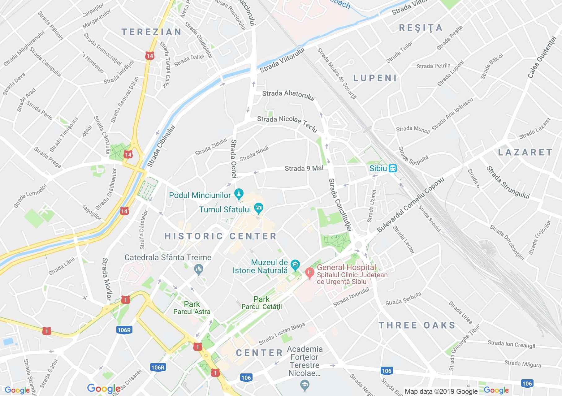 Nagyszeben: Kövér torony (térkép)