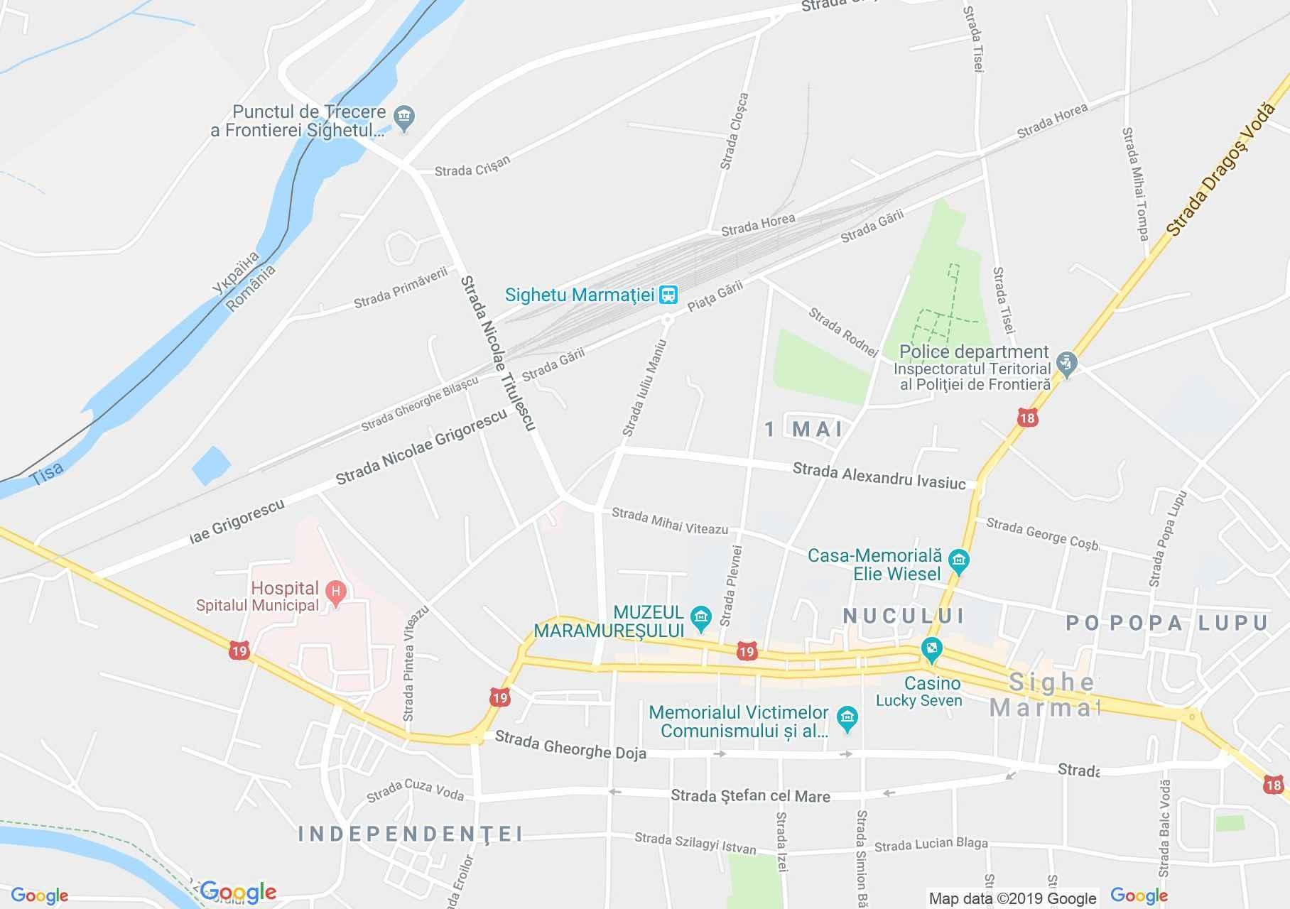 Máramarossziget: Mihalyi de Apsa emlékház (térkép)