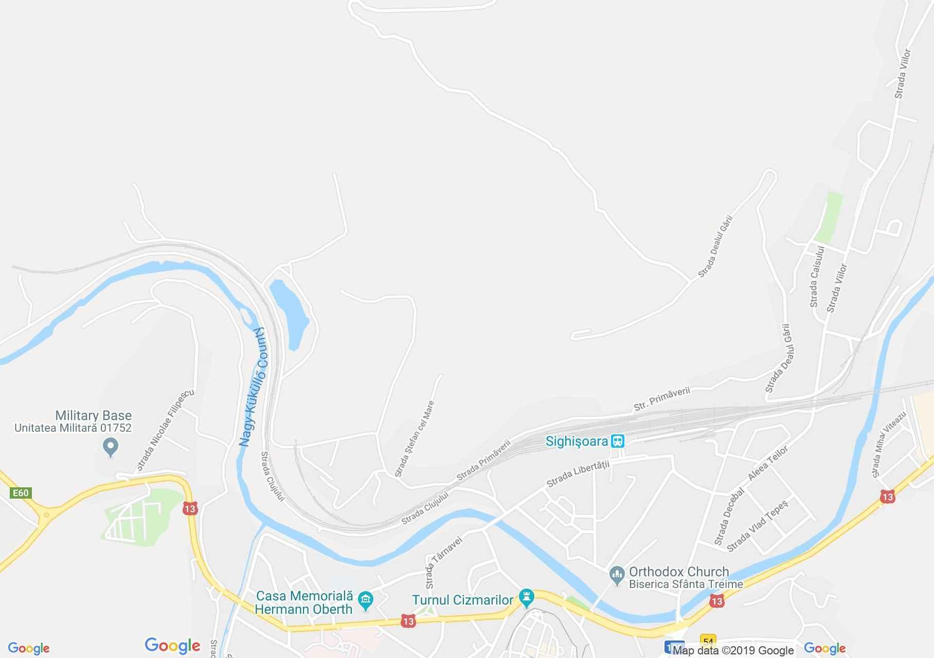 Segesvár: Leprások temploma (térkép)