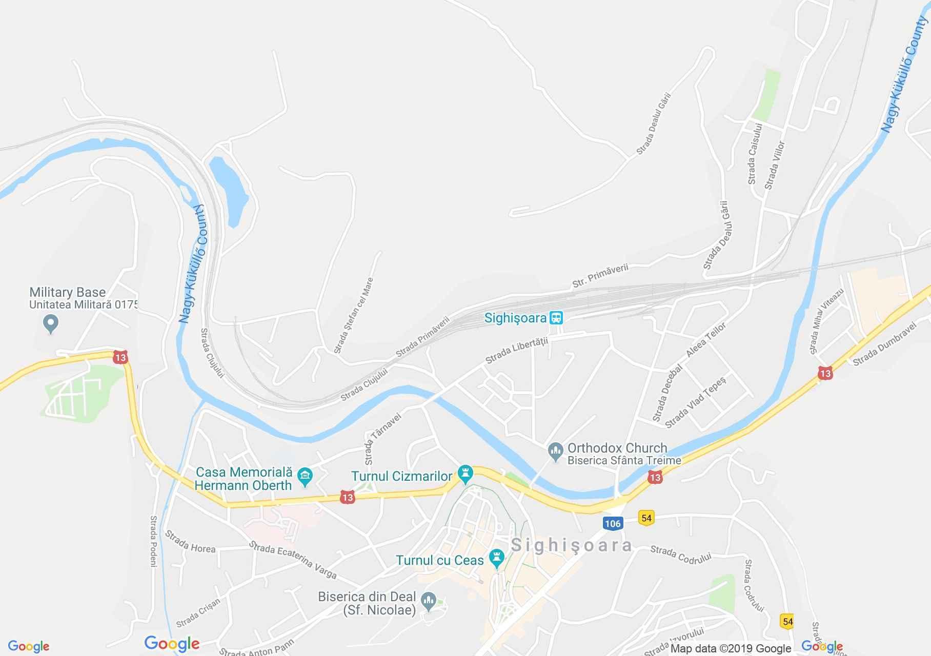 Hartă Sighişoara: Turnul Cismarilor