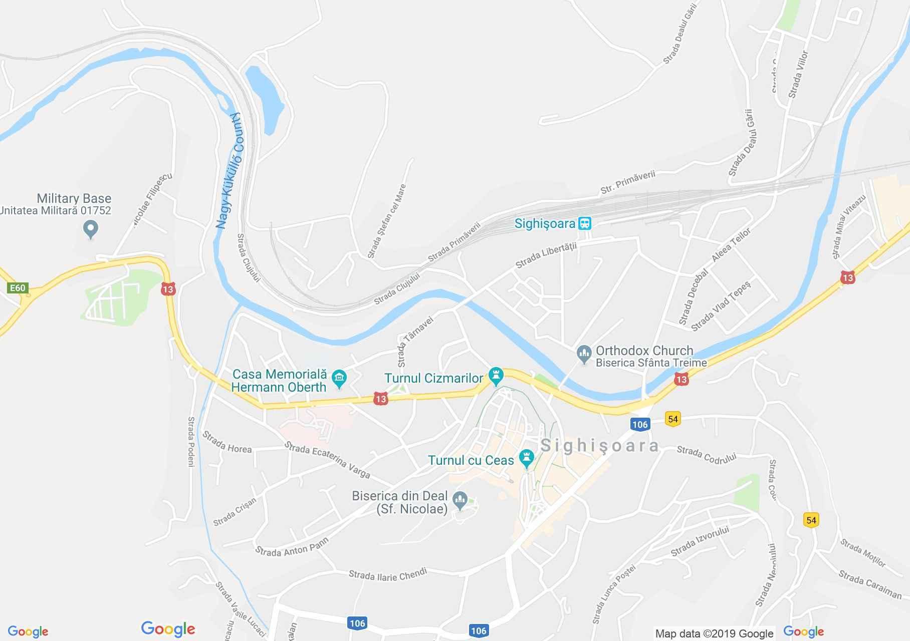 Hartă Sighişoara: Turnul Cojocarilor