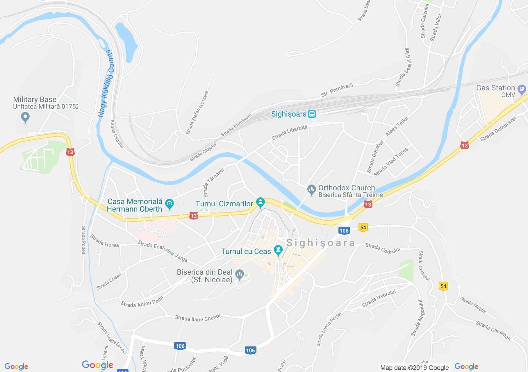 Hartă Sighişoara: Turnul Cositorarilor