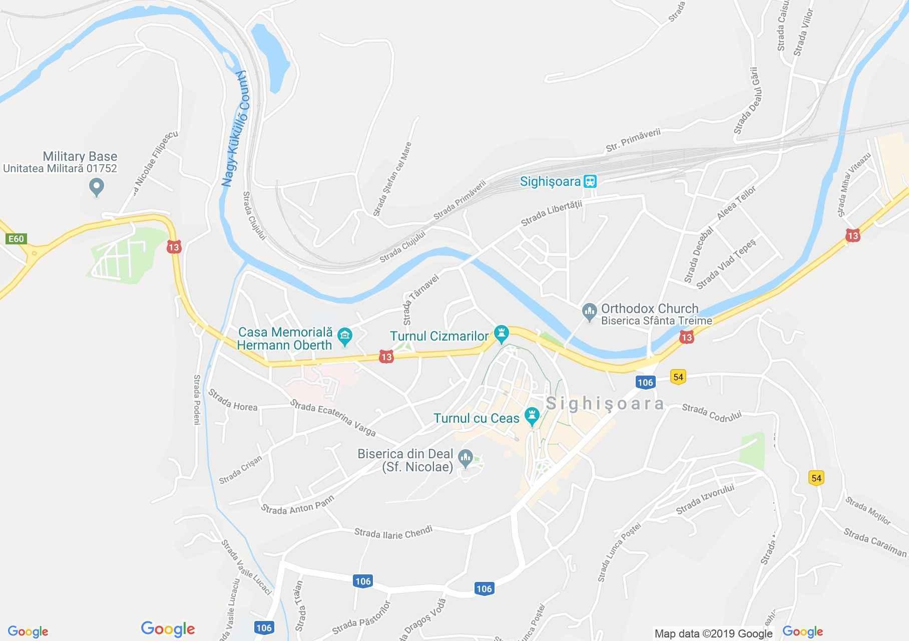 Hartă Sighişoara: Turnul Frânghierilor