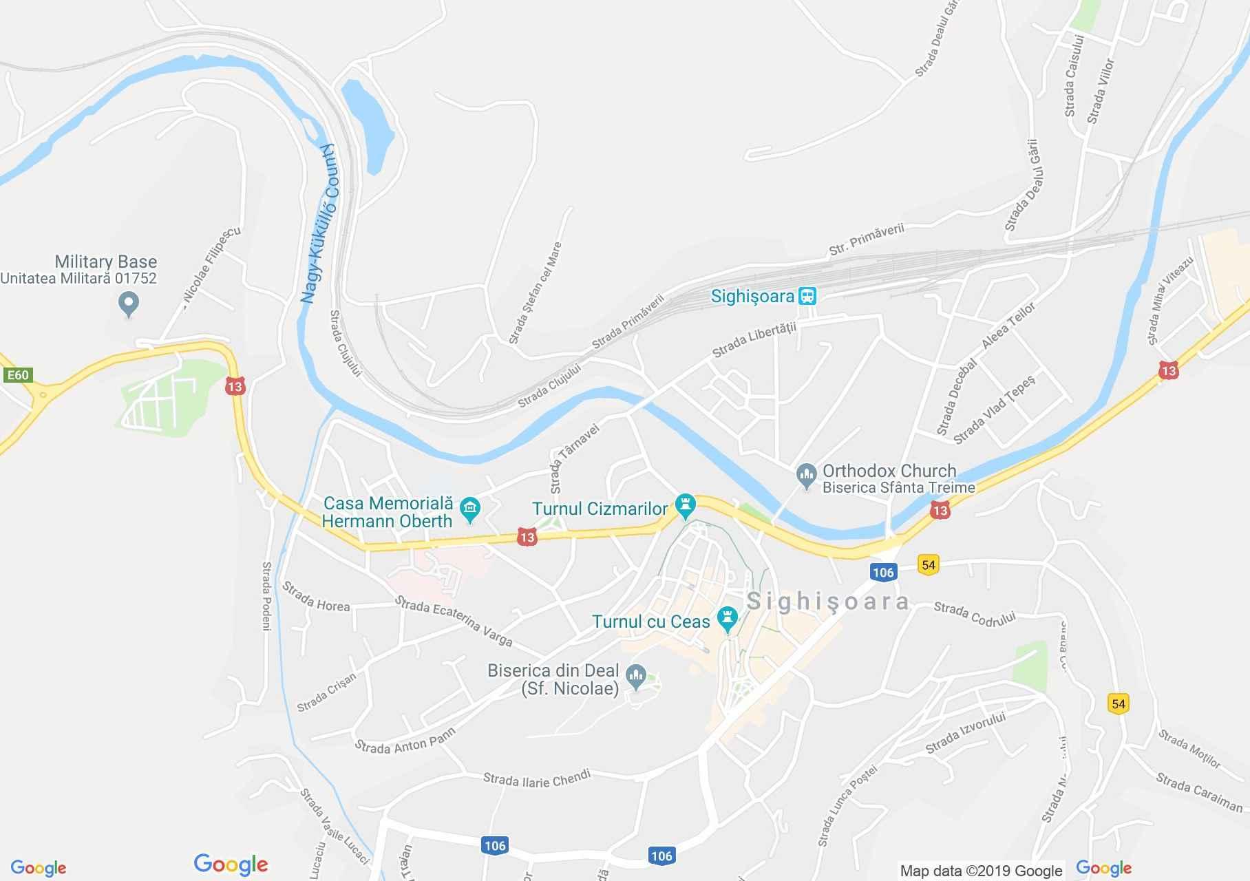 Hartă Sighişoara: Turnul Măcelarilor