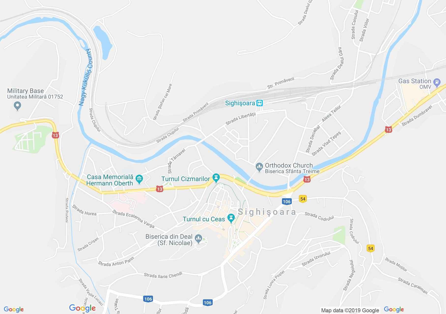Hartă Sighişoara: Turnul Tăbăcarilor