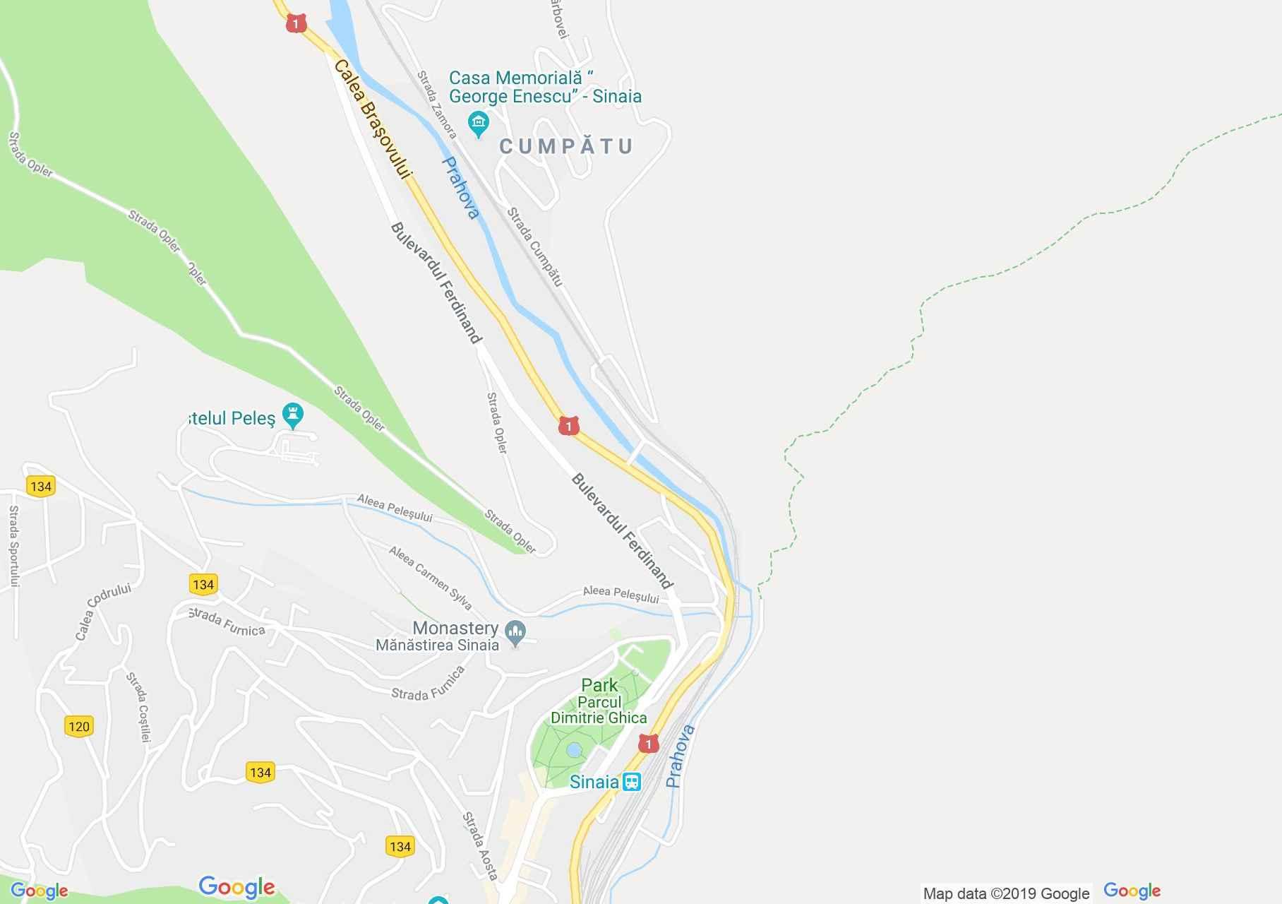 Hartă Sinaia: Cazinoul