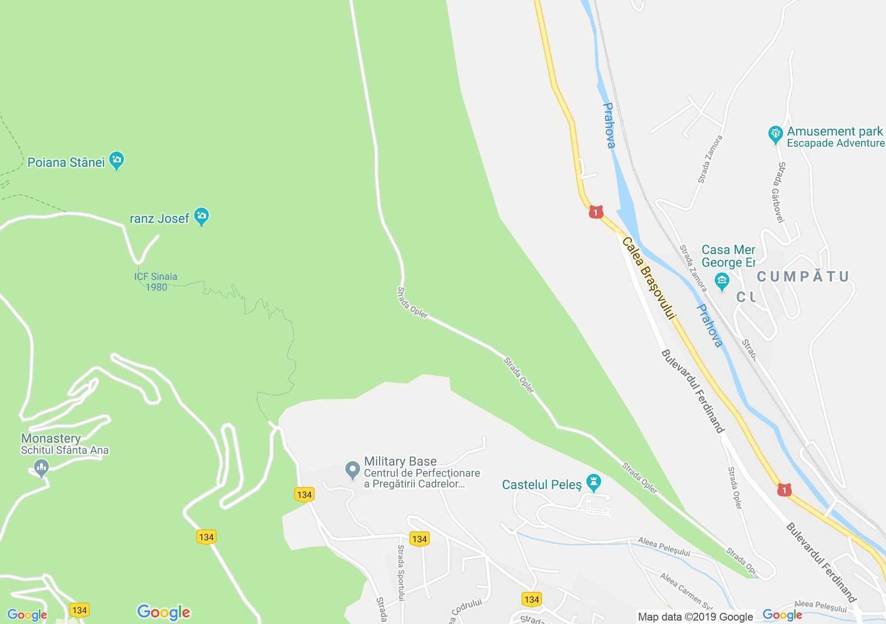 Sinaia: Foisor vadaszhaz (térkép)