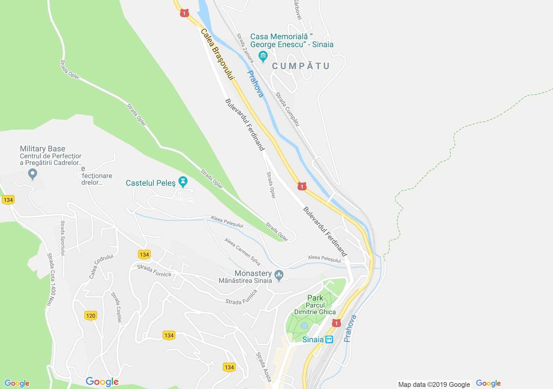 Sinaia: A szinjai kolostor (térkép)