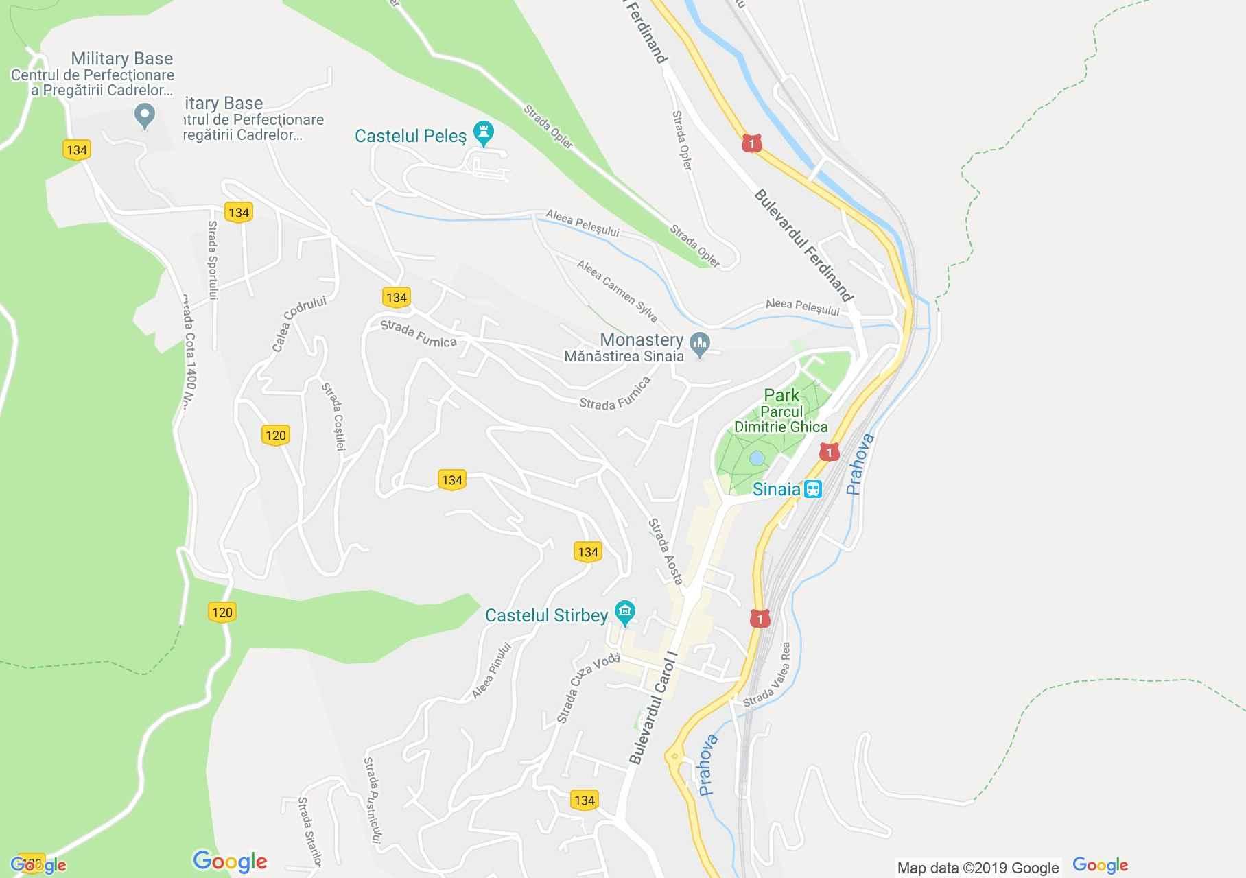 Map of Sinaia: Florescu vila