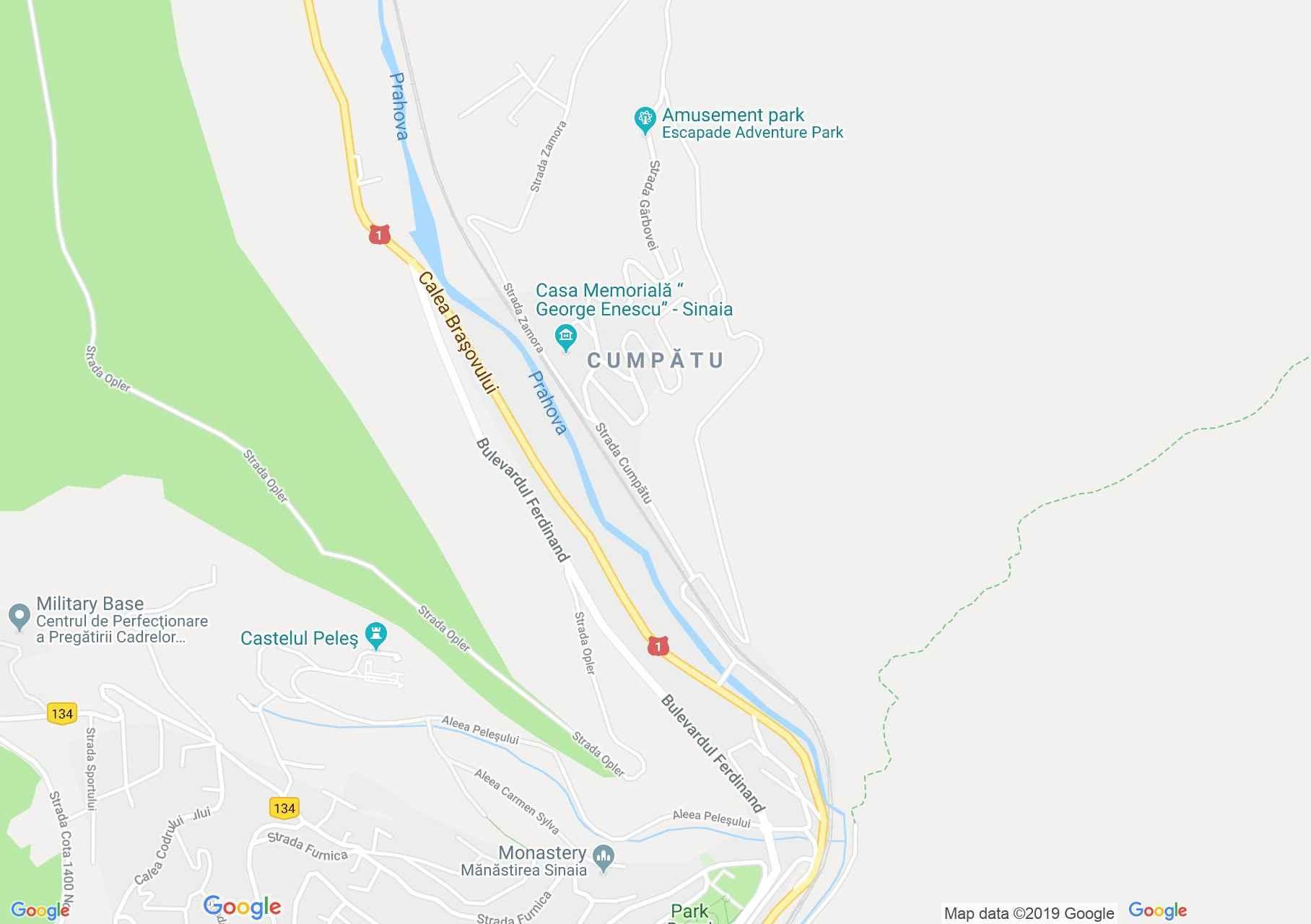 Sinaia: Vlahuta vila (térkép)
