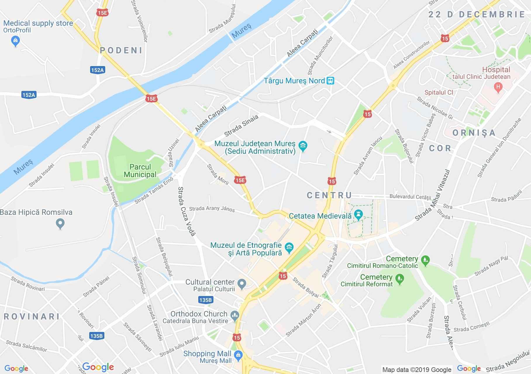 Marosvásárhely: Bányai ház (térkép)