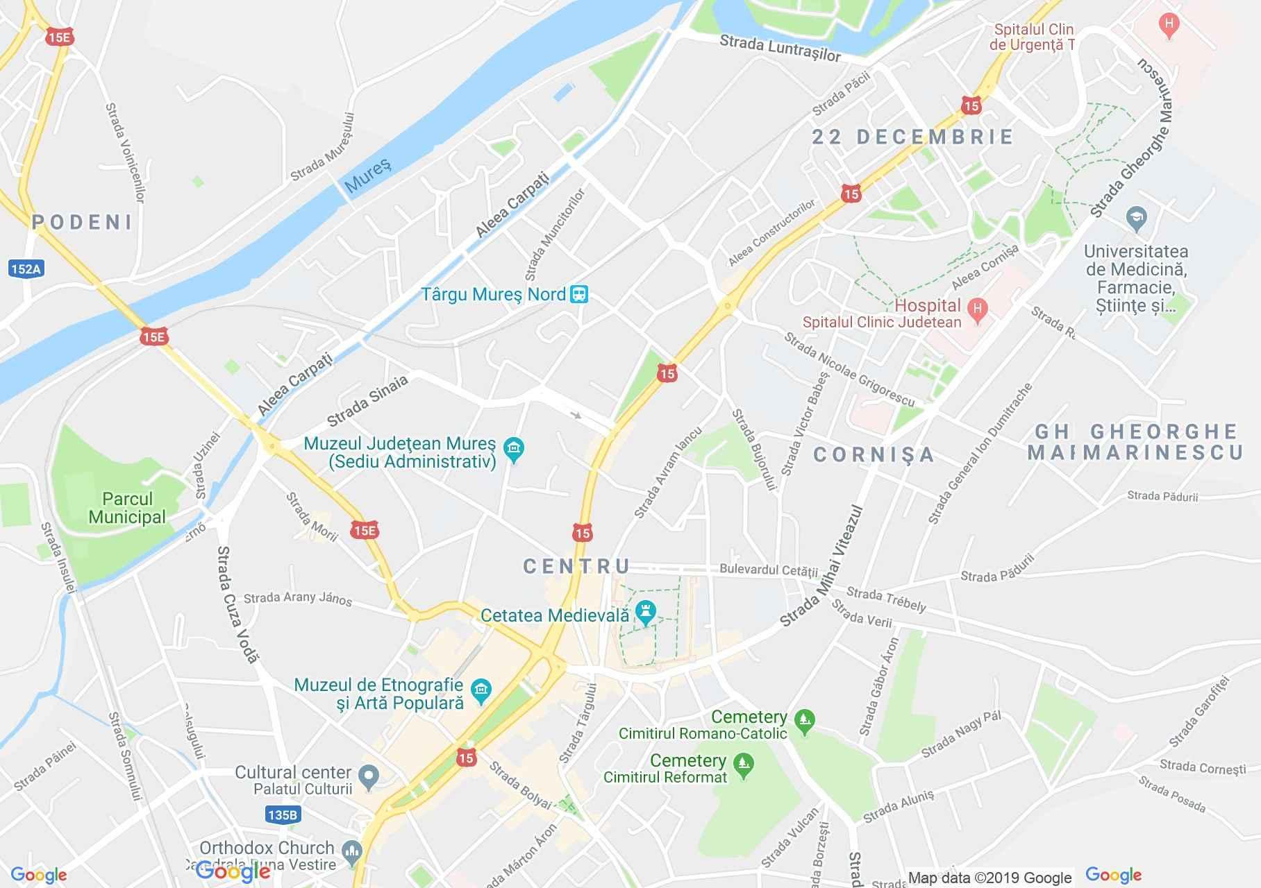 Marosvásárhely: Teleki ház (térkép)