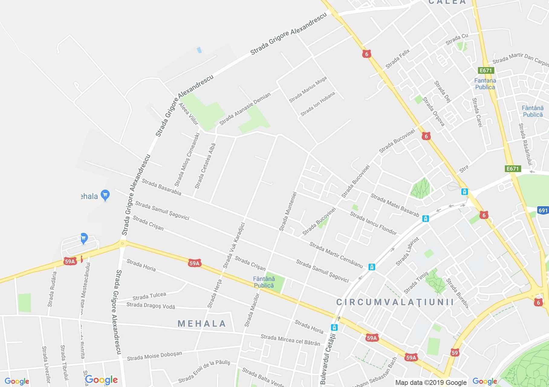 Temesvár: Mehala negyedi római katolikus templom (térkép)