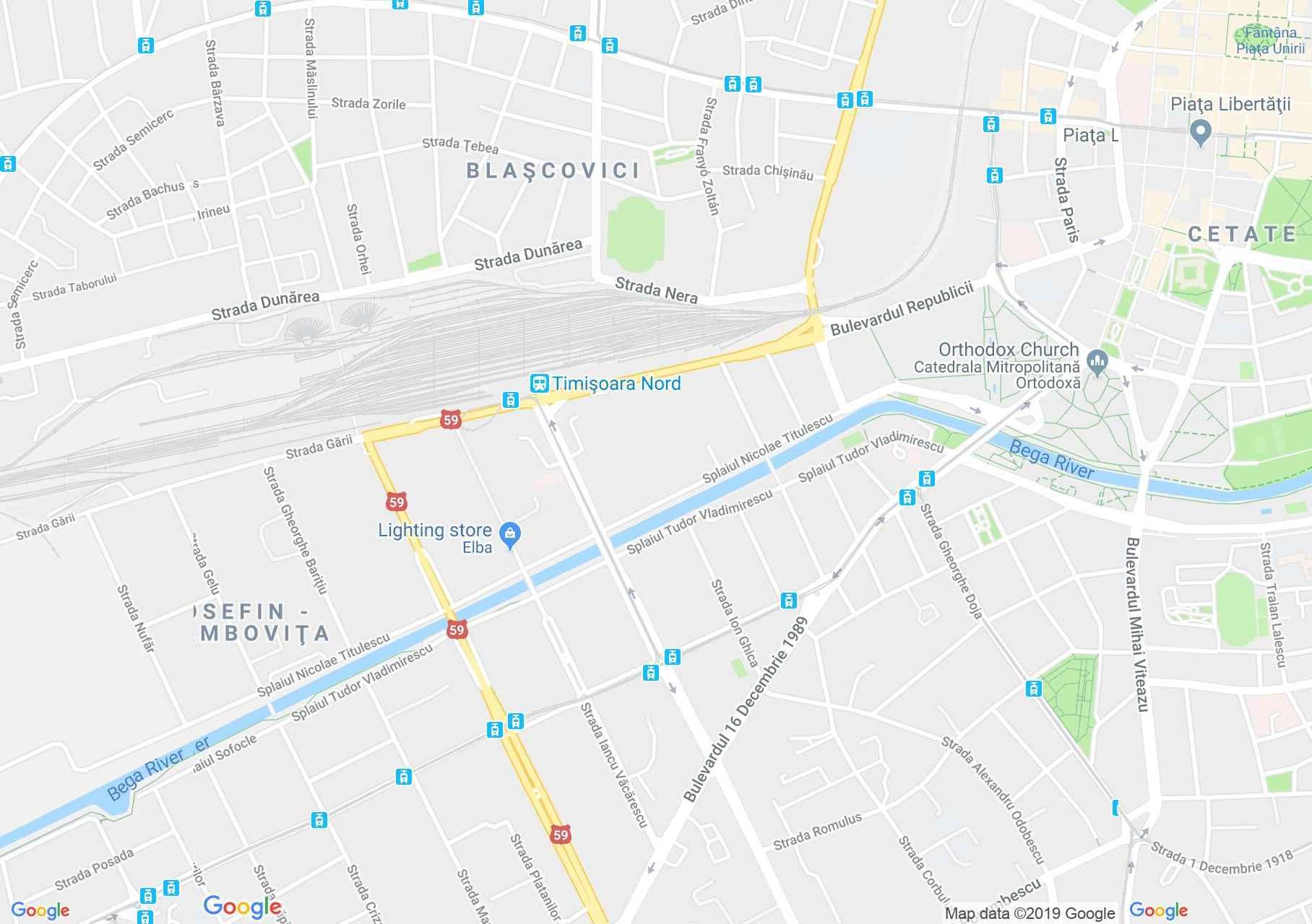 Temesvár: Józsefvárosi római katolikus templom (térkép)
