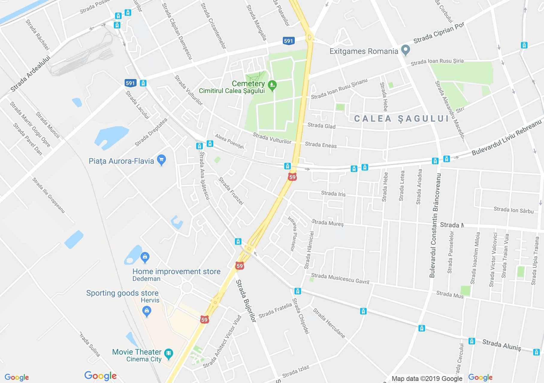 Temesvár: Római katolikus templom - Fratélia (térkép)