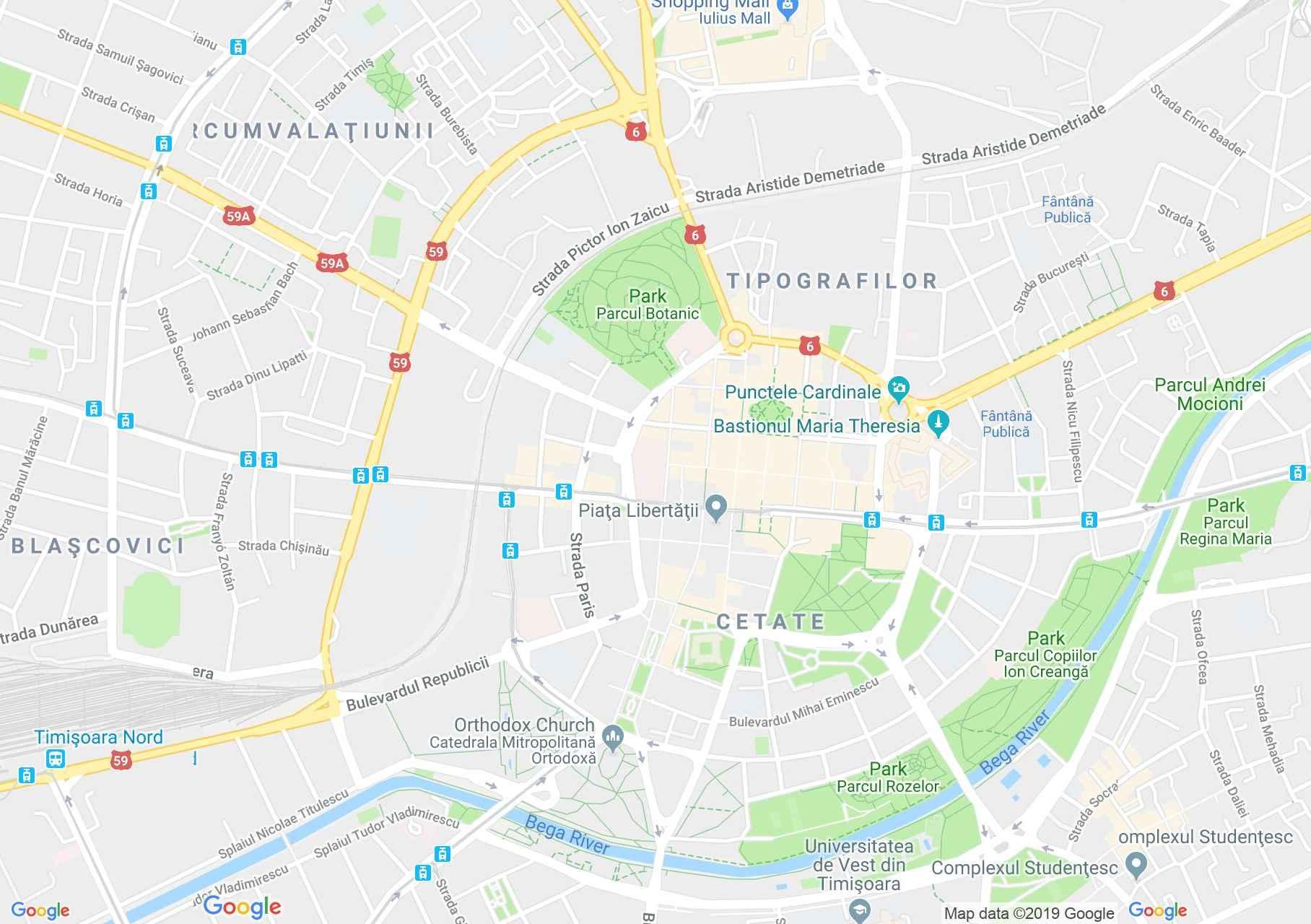 Temesvár: Kereskedelmi és Iparkamara (térkép)