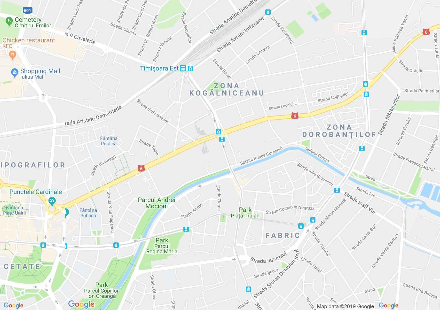 Temesvár: Milleniumi templom (térkép)
