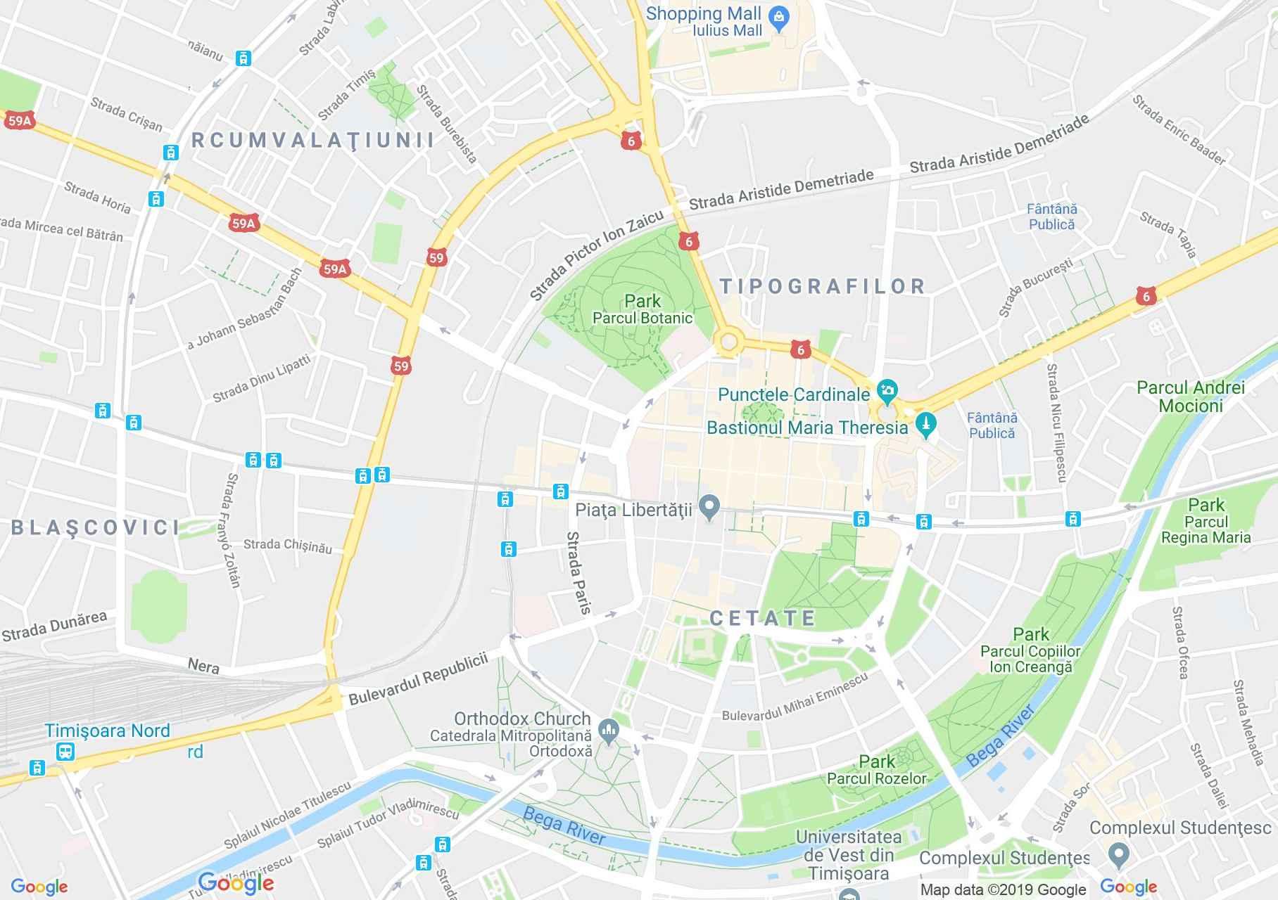 Temesvár: Halas szökőkút (térkép)